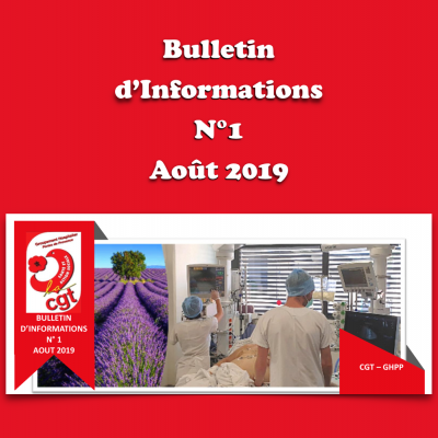 Bulletin d'Informations N°1 - Août 2019