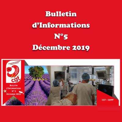 Bulletin d'Informations N°5 - Décembre 2019