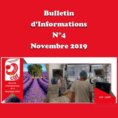 Bulletin d'Informations N°4 - Novembre 2019