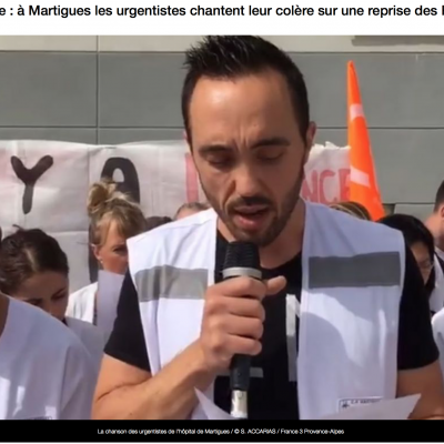 La chanson des urgentistes en grève de l'hôpital de Martigues