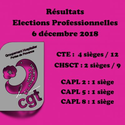 Résultats des Élections Professionnelles 2018