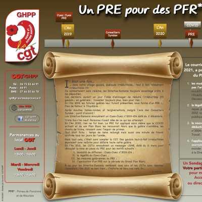 Un PRE pour des PFR - Acte II