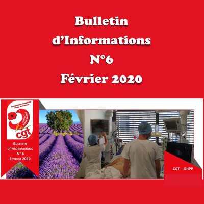 Bulletin d'Informations N°6 - Février 2020