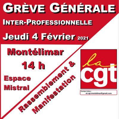 Grève Générale Inter-Professionnelle du Jeudi 4 Février 2021