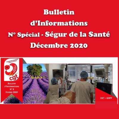 Décembre 2020 - Bulletin d'Informations spécial Ségur de la Santé
